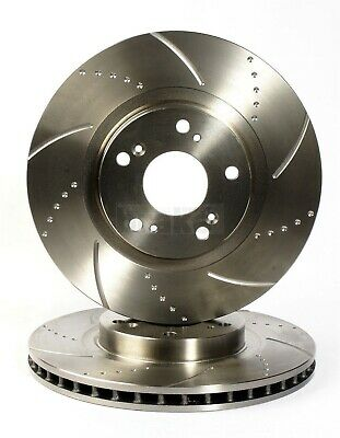 Fiat Coupe 20v Turbo Rear Dimpled and Grooved Brake Disc Set