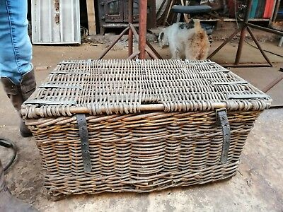 Vintage Antique Cane and Wicker Basket