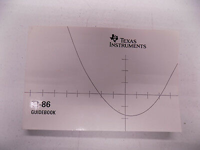 Texas Instruments TI-86 Guidebook Instructions Manual Book Guide