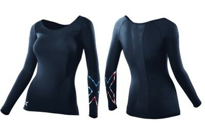 2XU Women's Limited Edition Stars N' Stripes Long Sleeve Compression Top- Small