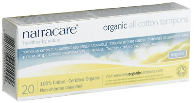 Natracare 20 Tampons normaux sans applicateur