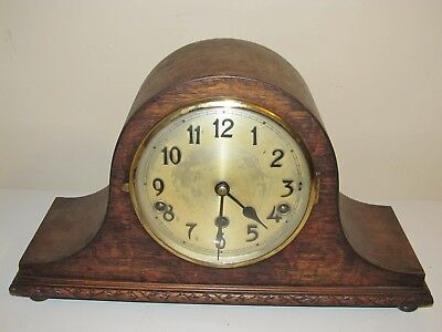 Vintage Napoleon Hat Mantle Clock Westminster Chimes 40cms