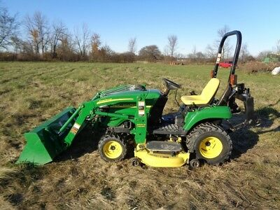 "2008 John Deere 2305 w/ Loader, 4WD, Hydro, 62"" belly mower, 210 Hrs"