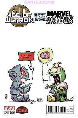 Age Of Ultron Vs Marvel Zombies #1 Skottie Young Baby Variant Cover Comic Book 1