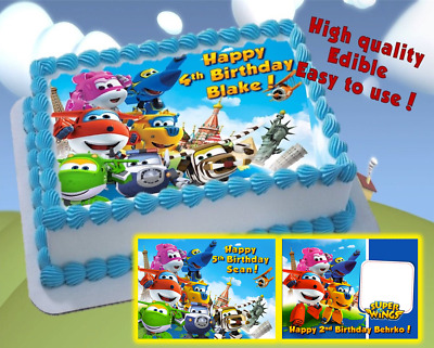 SUPER WINGS EDIBLE cake topper decoration, personalized superwings party item