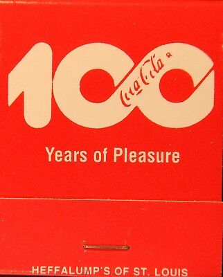 MINT Dated 1986 Coca-Cola Full Match Book - 100 Years Of Pleasure - Anniversary