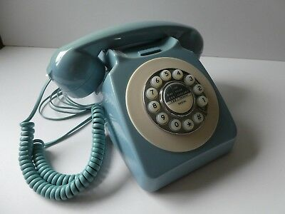 Maxtex retro corded phone 72925 pale blue in working order NO RESERVE