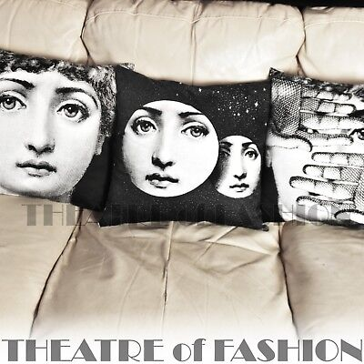 Cushion Pillow Fornasetti Bolster Vintage Urban Art Home Fashionista Iconic Rare