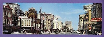 Canal Street New Orleans Louisiana panoramic view vintage 1970s postcard LA
