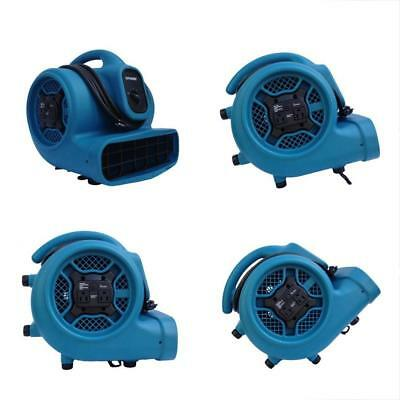 X-400A 1/4 Generators HP 1600 CFM 3 Speed Air Mover With Dual Outlets For Daisy