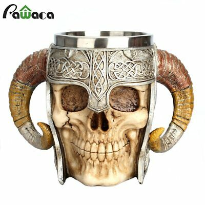Skeleton Skull 3D Skeleton Tankard Mug Cup Coffee Beer Pirate Gothic Halloween