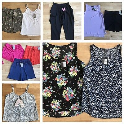 Womens bundle size 8 all bnwt shorts butterfly floral tops trousers