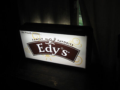 "Edy""s Family Favorite Ice Cream Sign Lighted & Double Sided"