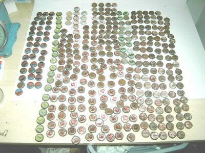 Huge Lot Of Old Cork Lined Pop Bottle Caps