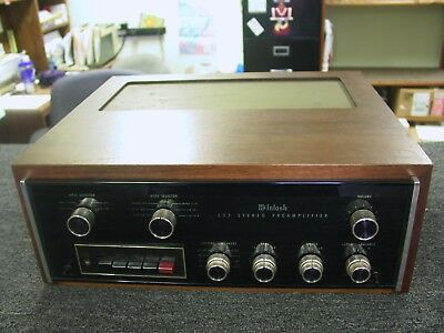 Mcintosh C27 Vintage Preamplifier With Walnut Cabinet