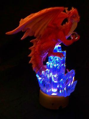 """MYTHS & LEGENDS - RED DRAGON (8.25""""H x 7.5""""W) - light-able"""