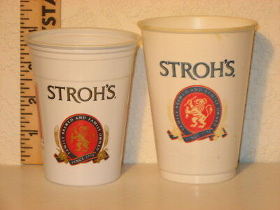 2 Different Stroh.s  Plastic Drinking Cups