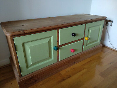 Solid pine low sideboard