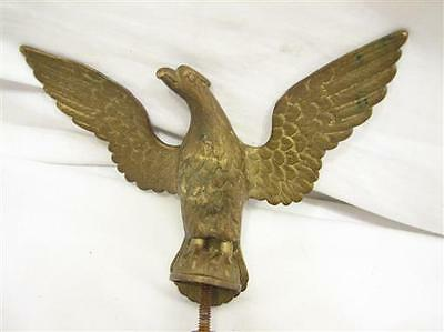 Bronze/Brass Flying Eagle Finial Coffee Grinder Flag Pole Staff Topper Figure B