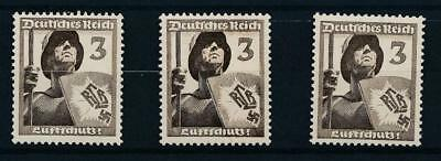 [123709] Germany 1937 good lot of 3 stamps very fine MNH $31