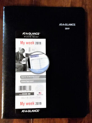 "2019 At-A-Glance DayMinder G520 G520-00 Weekly Appointment Book 8"" x 11"" Black"