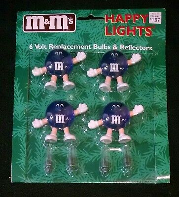 M&M's Candy Happy Lights Christmas String Lights Replacement Bulbs & Reflectors
