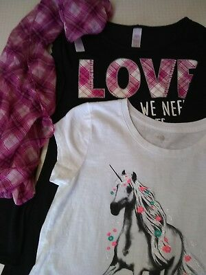 Justice Lot of 2 Tops Shirts Girl's Size 16 Kohl's So