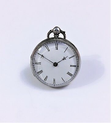 Silver Cased Pocket Watch With Verge Movement c1856