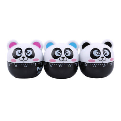 Cartoon Panda 60 Minute Mechanical Kitchen Cook Cooking Timer Food Prepare 6A