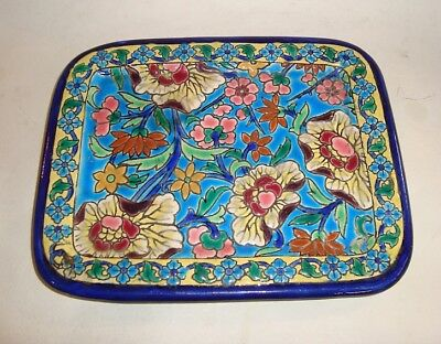 Lovely French Longwy Pottery Art Deco Nouveau Faience Small Tray
