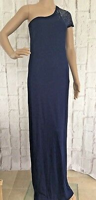 Fashion Pride Womens Dress Size 8 Maxi One Shoulder Embellished Pencil Prom NEW