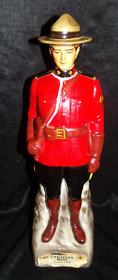 Vtg Canadian Mist Mountie Royal Mounted Police Whisky Decanter A-1969 Figurine
