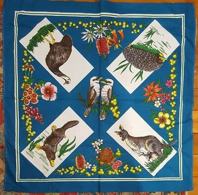 Vintage Australiana Table cloth collectable linen