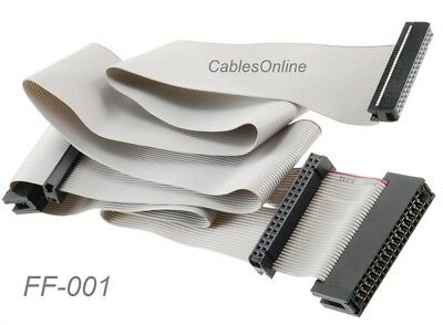 """24"""" Universal 34-Pin Floppy Drive Ribbon Cable for 3.5"""" and/or 5.25"""" Drives"""