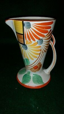 Art Deco Style Wadeheath pottery Jug  #W901 with flower design