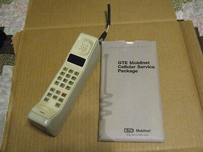 Vintage Motorola Brick Cell Phone USWest Cellular Model ?09GTD8458CG