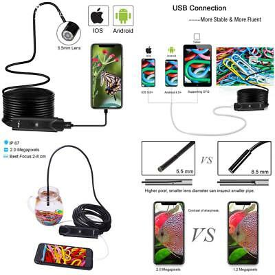 Usb Endoscope Inspection Camera For Iphone/Android 2.0Mp Cmos Hd Waterproof Bore