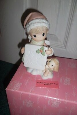 Precious Moments You Light Up My Holly-Days New In Box Rare