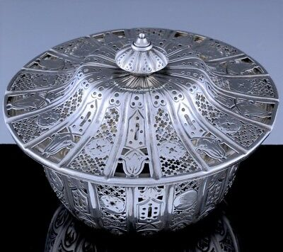 c1850 VICTORIAN LATE STORR MORTIMER HUNT STERLING SILVER TUREEN SERVING BOWL