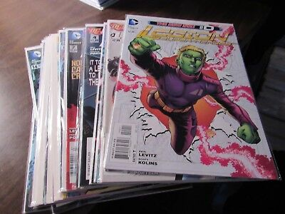 Lot of 16 Different Legion of Super-Heroes the NEW 52 #0 1-15 DC Comic Book Run