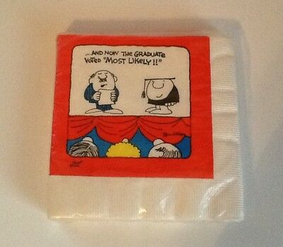 Ziggy American Greetings (20) 3-Ply Luncheon Napkins NOS