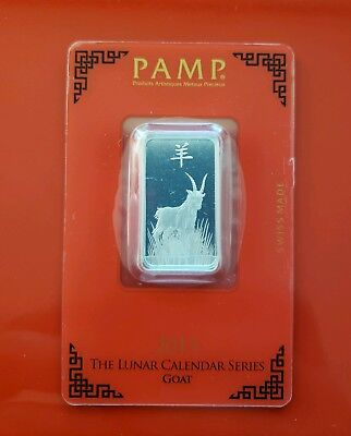 Pamp Suisse Year of the Goat 10g .999 Fine Silver Bar Sealed in card