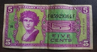 MPC FIVE CENTS - U.S. Series 541 circ w edges intact - a great starter!