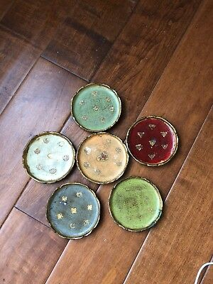 Vintage Florentine Coaster Set - Florentia - Made In Italy