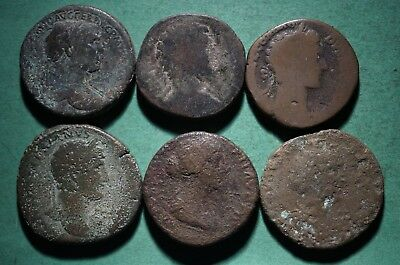 *Tater* 6 Roman Imperial ae Sestertius Coins