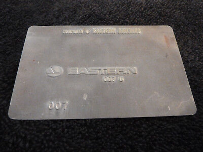 Eastern Airlines 007 - Travel Agent Airline Ticket Validation Plate