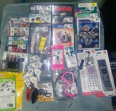 Lot of Assorted electronic, garage sale, DVDs, CDs, phone Flea Market Stuff