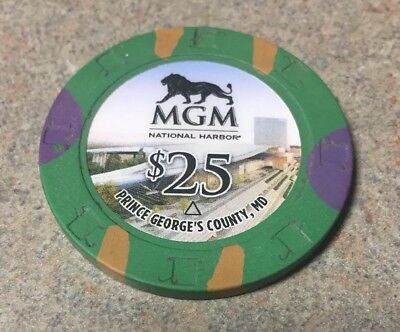 Mgm Grand Harbor $25 Poker Roullette Game Chip Green 2018