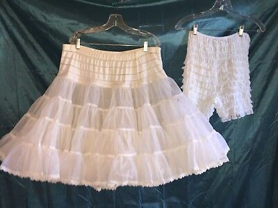 Square Dance White Petticoat & Pettipants Reduced -Medium