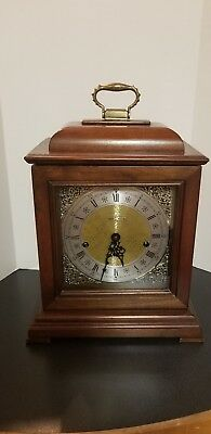 Vtg 1980's Howard Miller Model 612-429 1050-020 Movement Triple Chime Clock 15""